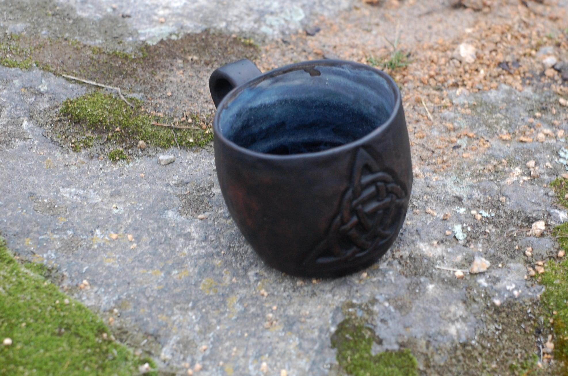 Handmade Triquetra symbol Viking mug Triquetra charmed Viking cup ~13oz