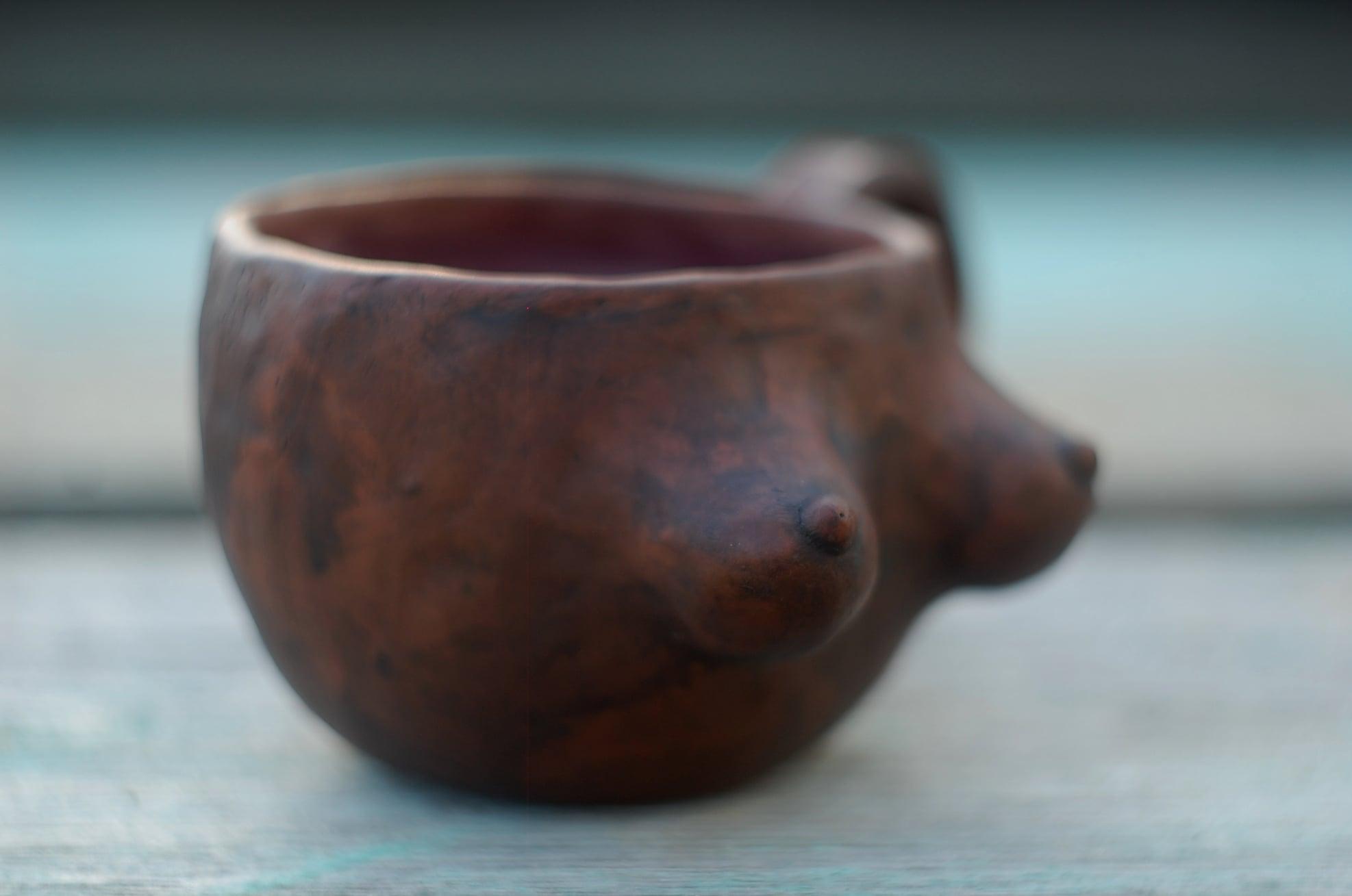 Handmade breast mug gift boobs mug for coffee and tea ~11oz
