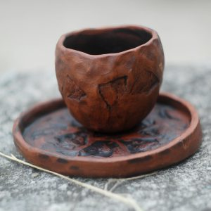 Small pottery ceramic mug Stones