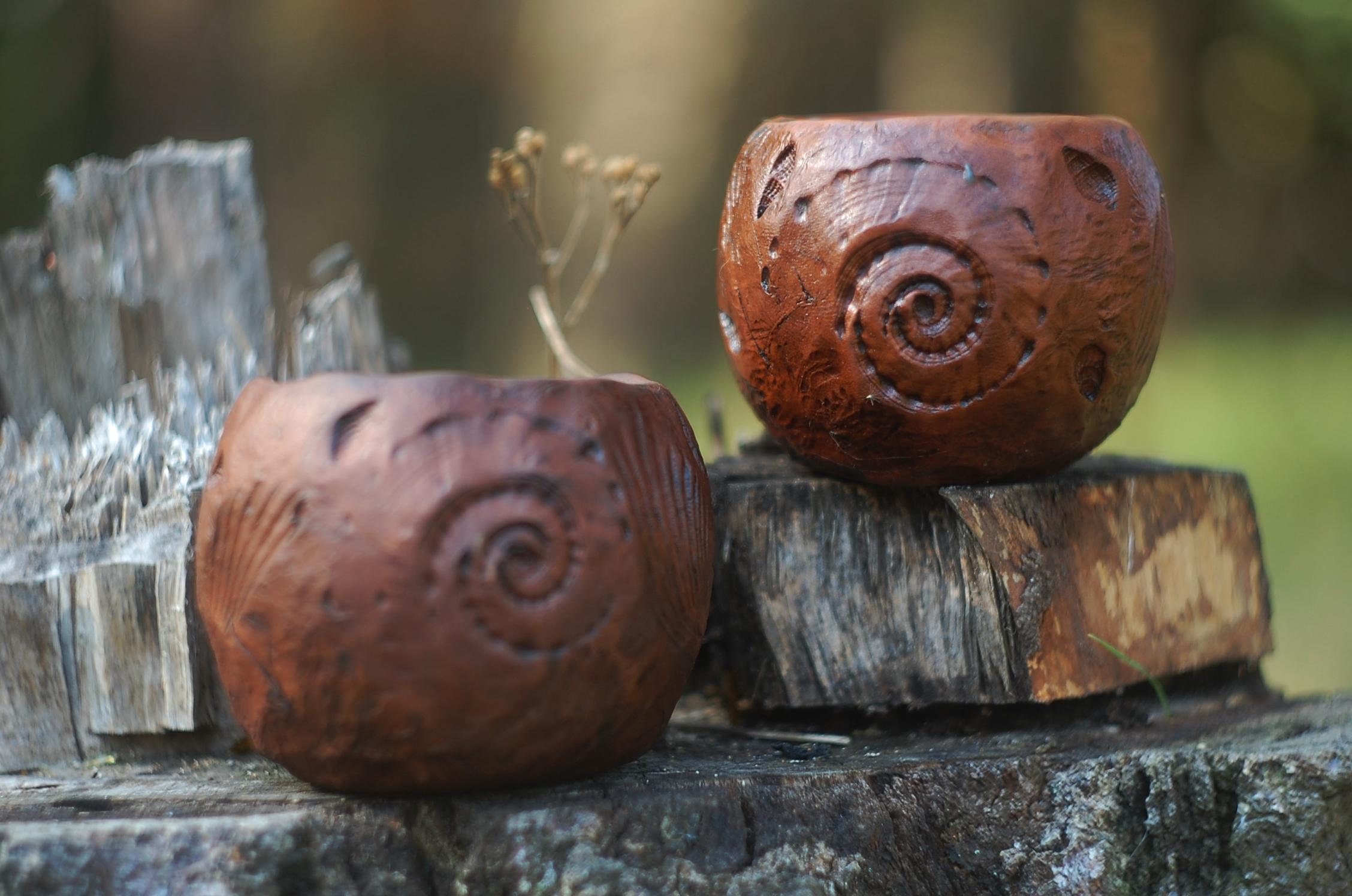 Handmade pottery ceramic mug Sea art handmade pottery mug ~11oz
