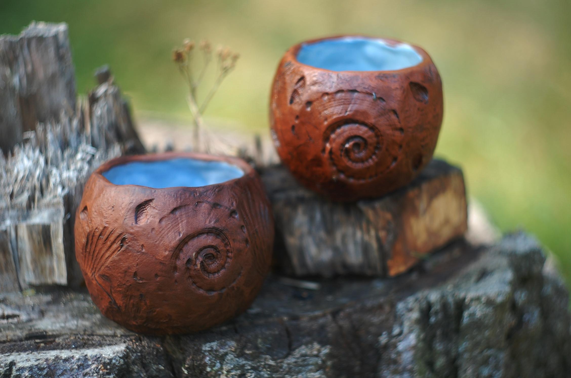 Handmade pottery ceramic mug Sea