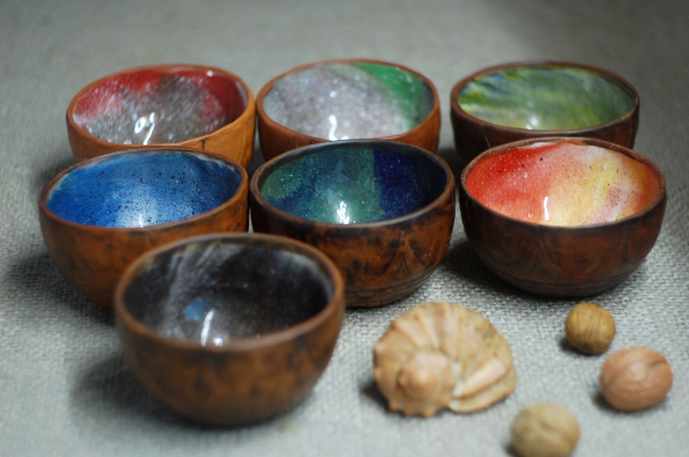 Handmade small pottery ceramic bowl universal for food and drinks ~7oz