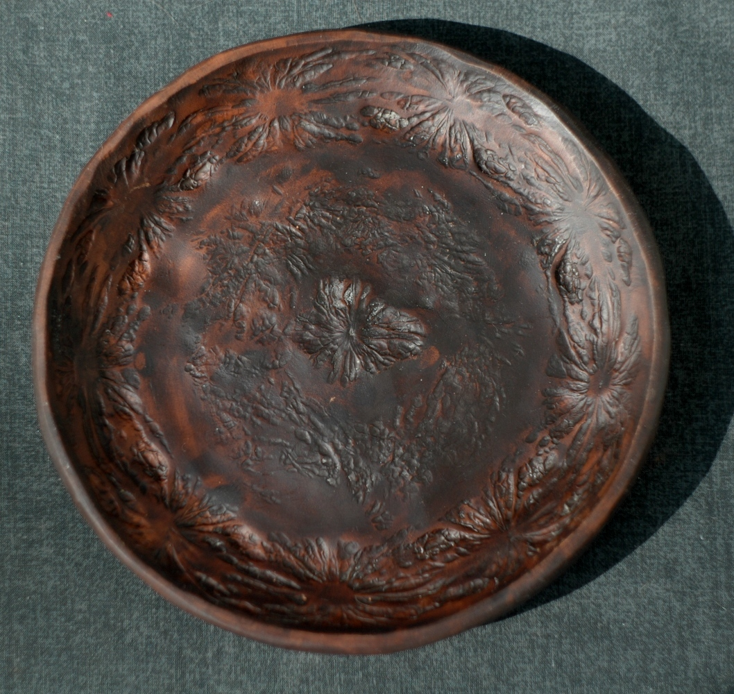 Handmade ceramic pottery plate Sea collection ~6in